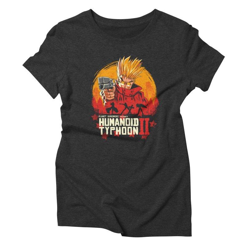 Red Humanoid Typhoon II Women's Triblend T-Shirt by vincenttrinidad's Artist Shop