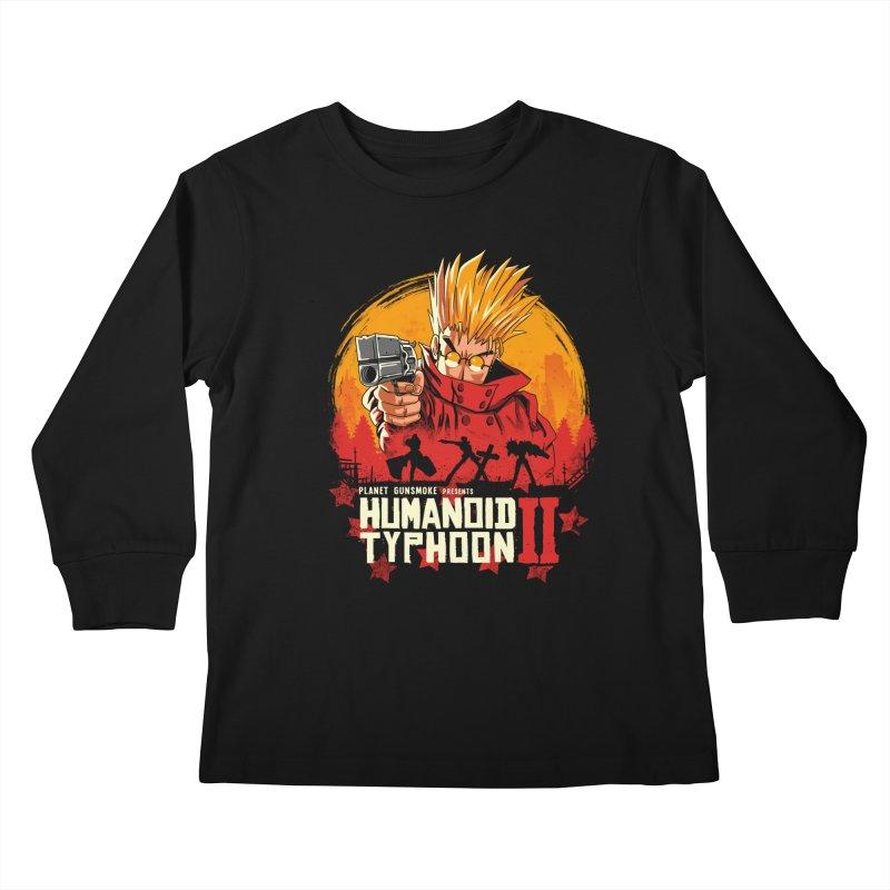 Red Humanoid Typhoon II Kids Longsleeve T-Shirt by vincenttrinidad's Artist Shop