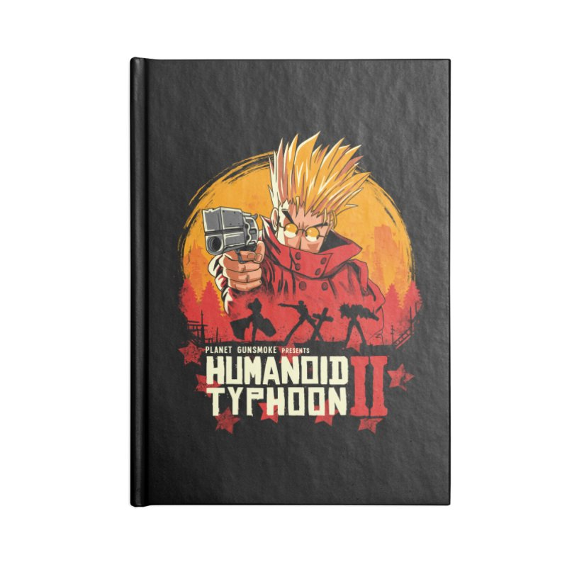 Red Humanoid Typhoon II Accessories Notebook by vincenttrinidad's Artist Shop