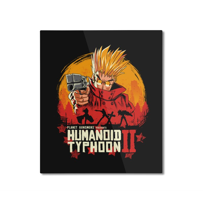 Red Humanoid Typhoon II Home Mounted Aluminum Print by vincenttrinidad's Artist Shop