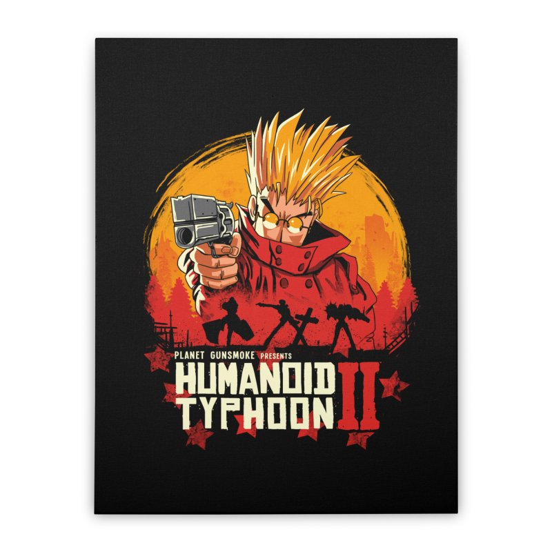 Red Humanoid Typhoon II Home Stretched Canvas by vincenttrinidad's Artist Shop