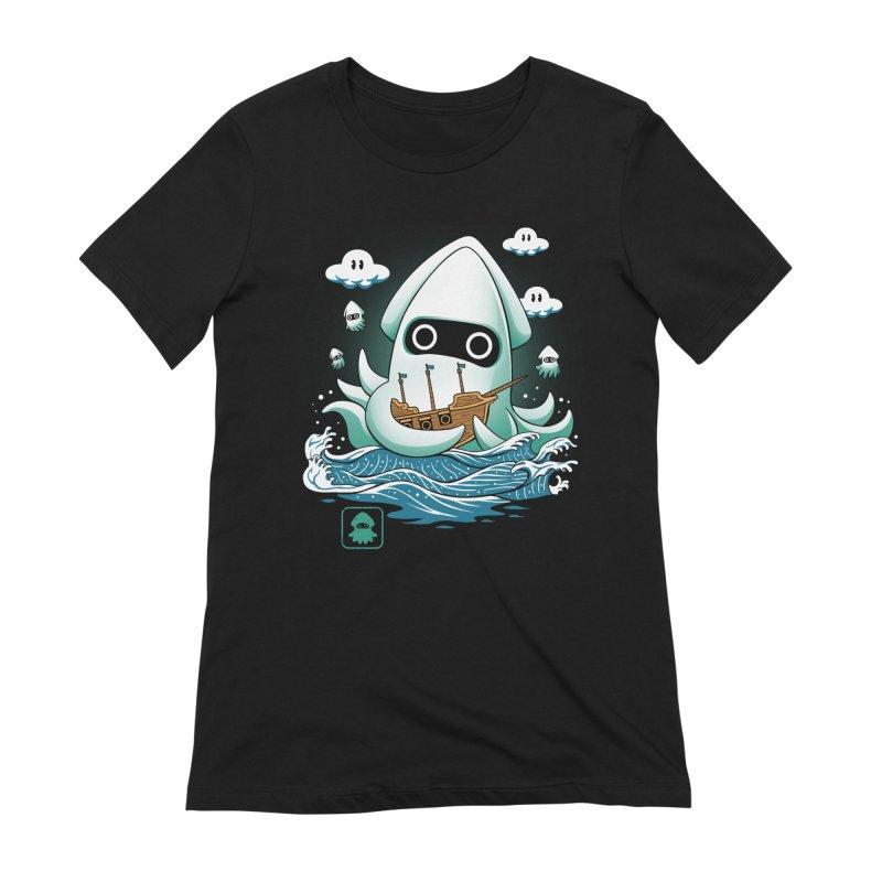 Blooper Kaiju Women's Extra Soft T-Shirt by vincenttrinidad's Artist Shop
