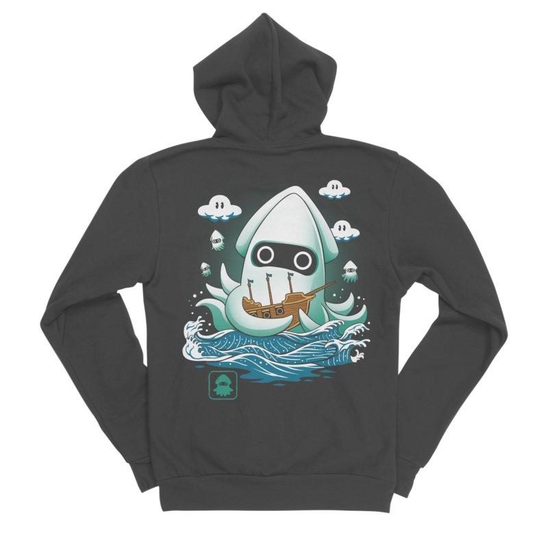 Blooper Kaiju Men's Sponge Fleece Zip-Up Hoody by vincenttrinidad's Artist Shop
