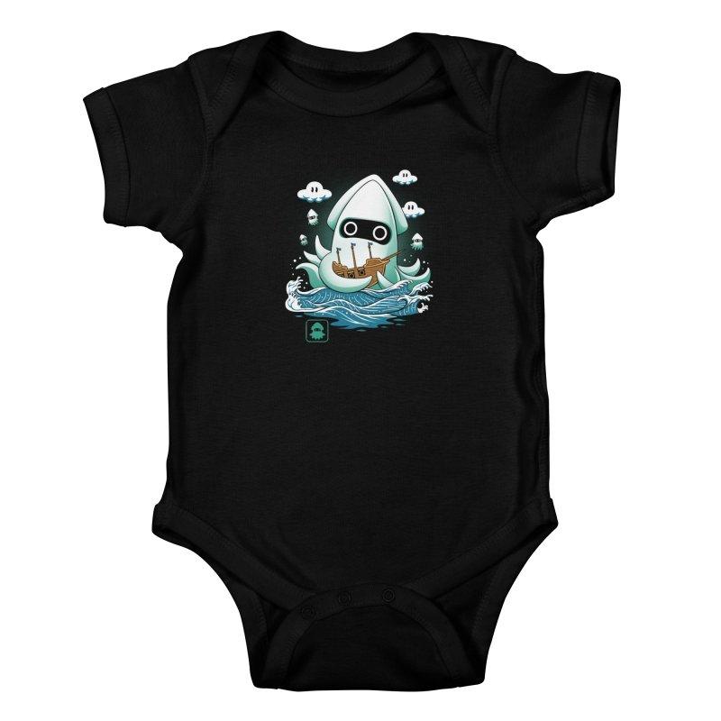 Blooper Kaiju Kids Baby Bodysuit by vincenttrinidad's Artist Shop
