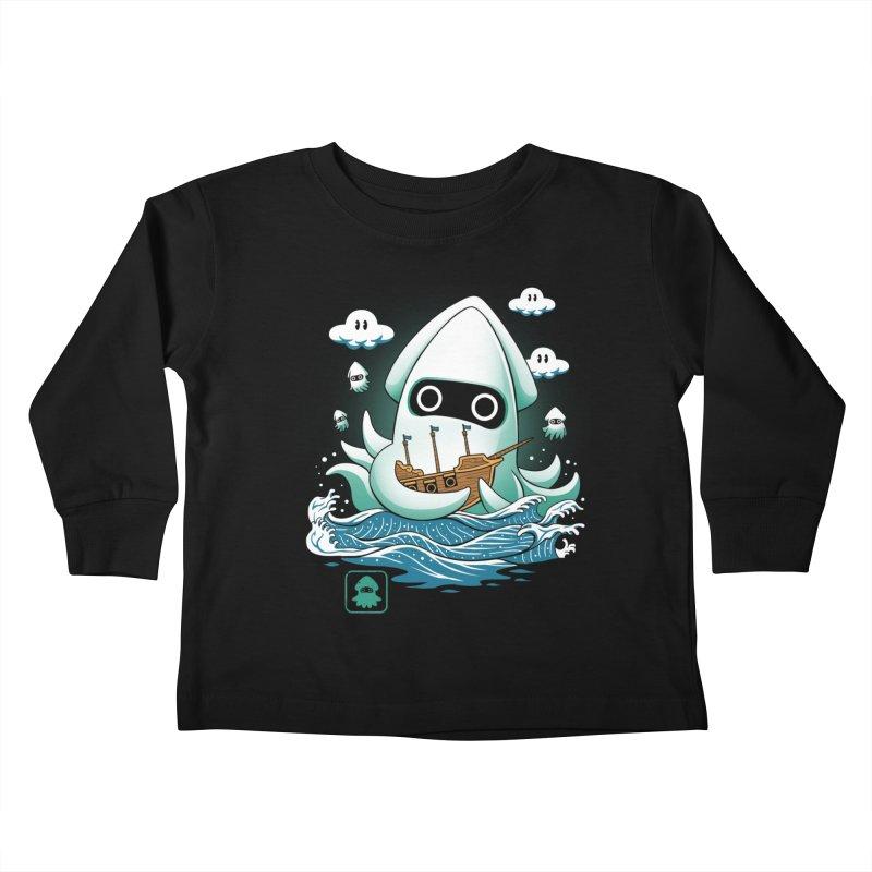 Blooper Kaiju Kids Toddler Longsleeve T-Shirt by vincenttrinidad's Artist Shop