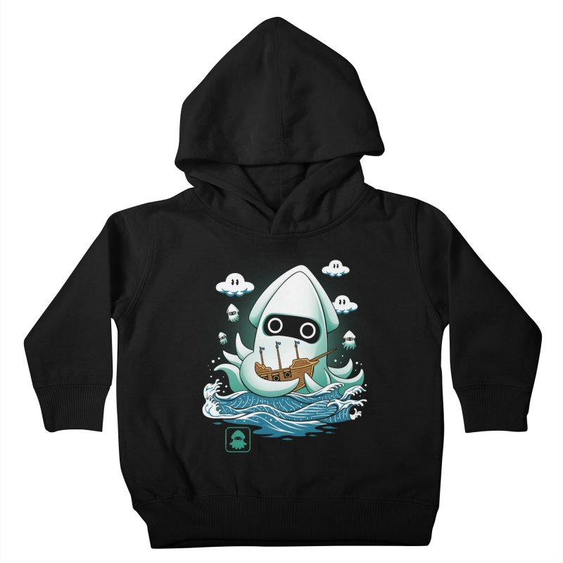 Blooper Kaiju Kids Toddler Pullover Hoody by vincenttrinidad's Artist Shop