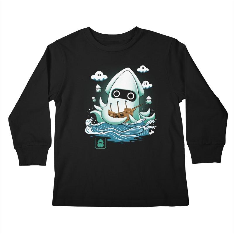Blooper Kaiju Kids Longsleeve T-Shirt by vincenttrinidad's Artist Shop
