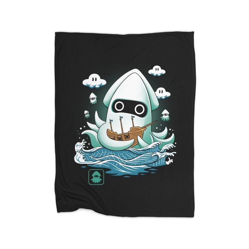 Blooper Kaiju Home Blanket by vincenttrinidad's Artist Shop