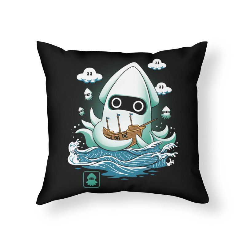 Blooper Kaiju Home Throw Pillow by vincenttrinidad's Artist Shop