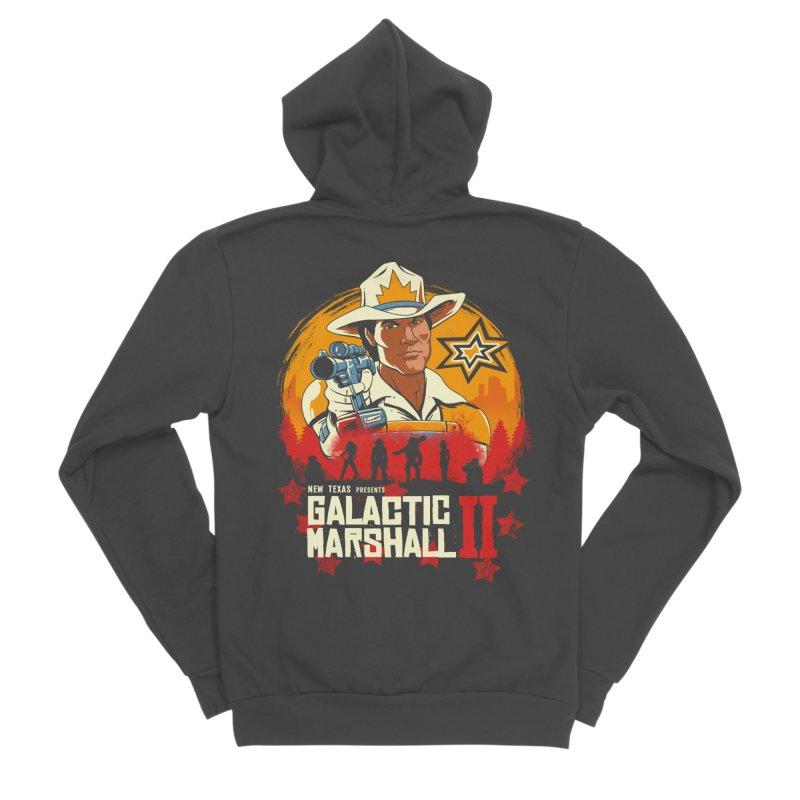 Red Galactic Marshall II Men's Sponge Fleece Zip-Up Hoody by vincenttrinidad's Artist Shop