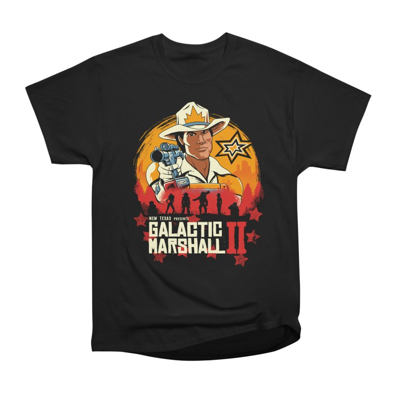 Red Galactic Marshall II Men's Heavyweight T-Shirt by vincenttrinidad's Artist Shop