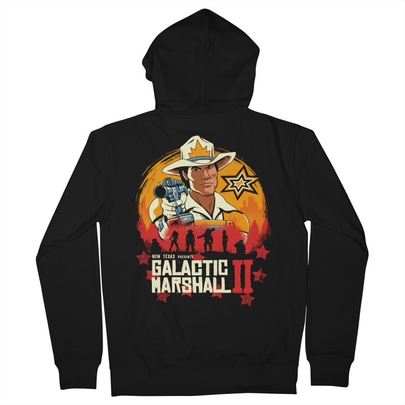 Red Galactic Marshall II Men's French Terry Zip-Up Hoody by vincenttrinidad's Artist Shop