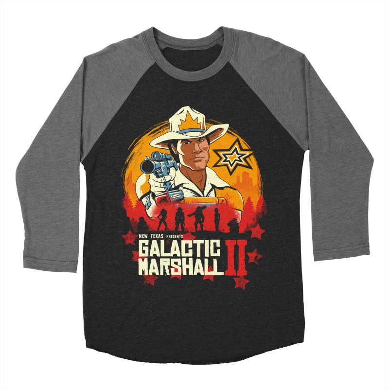 Red Galactic Marshall II Men's Baseball Triblend Longsleeve T-Shirt by vincenttrinidad's Artist Shop