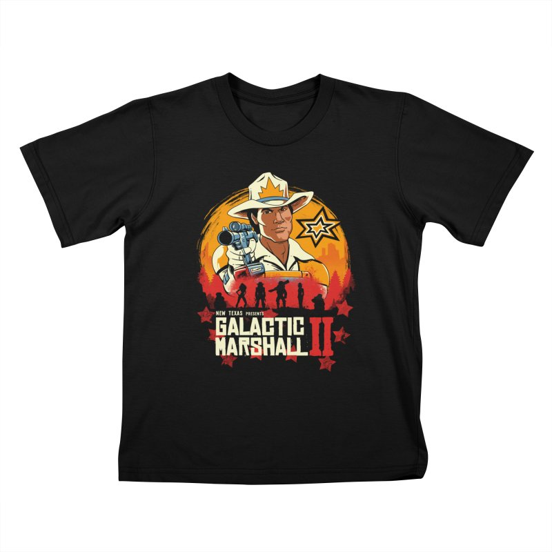 Red Galactic Marshall II Kids T-Shirt by vincenttrinidad's Artist Shop