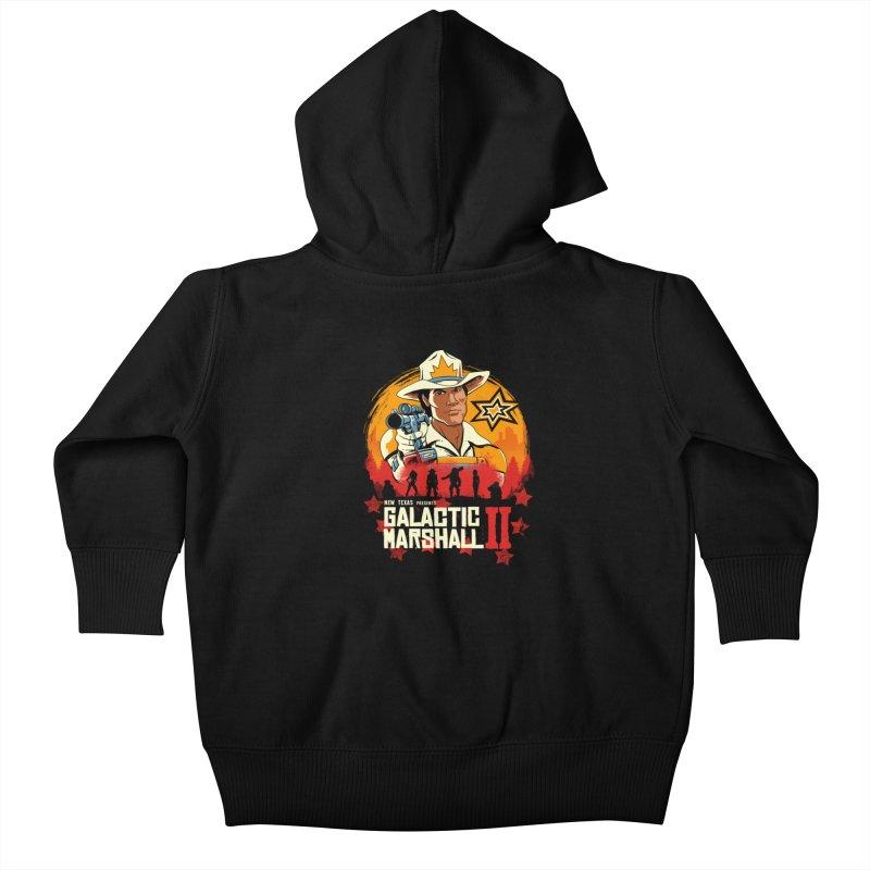 Red Galactic Marshall II Kids Baby Zip-Up Hoody by vincenttrinidad's Artist Shop