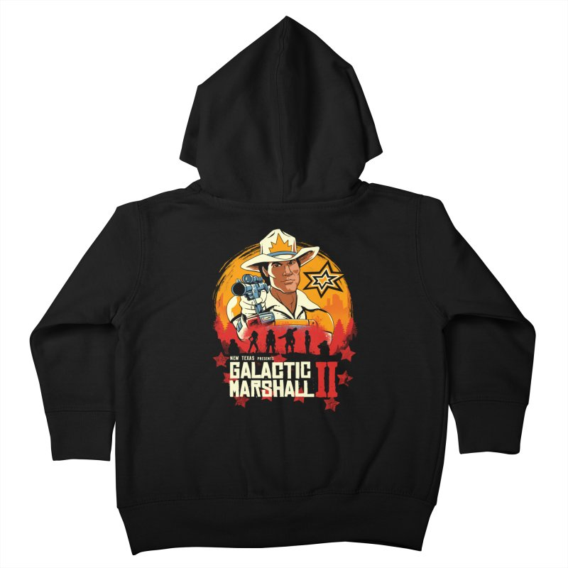 Red Galactic Marshall II Kids Toddler Zip-Up Hoody by vincenttrinidad's Artist Shop