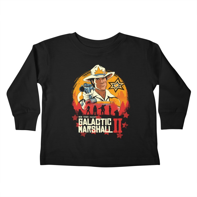 Red Galactic Marshall II Kids Toddler Longsleeve T-Shirt by vincenttrinidad's Artist Shop