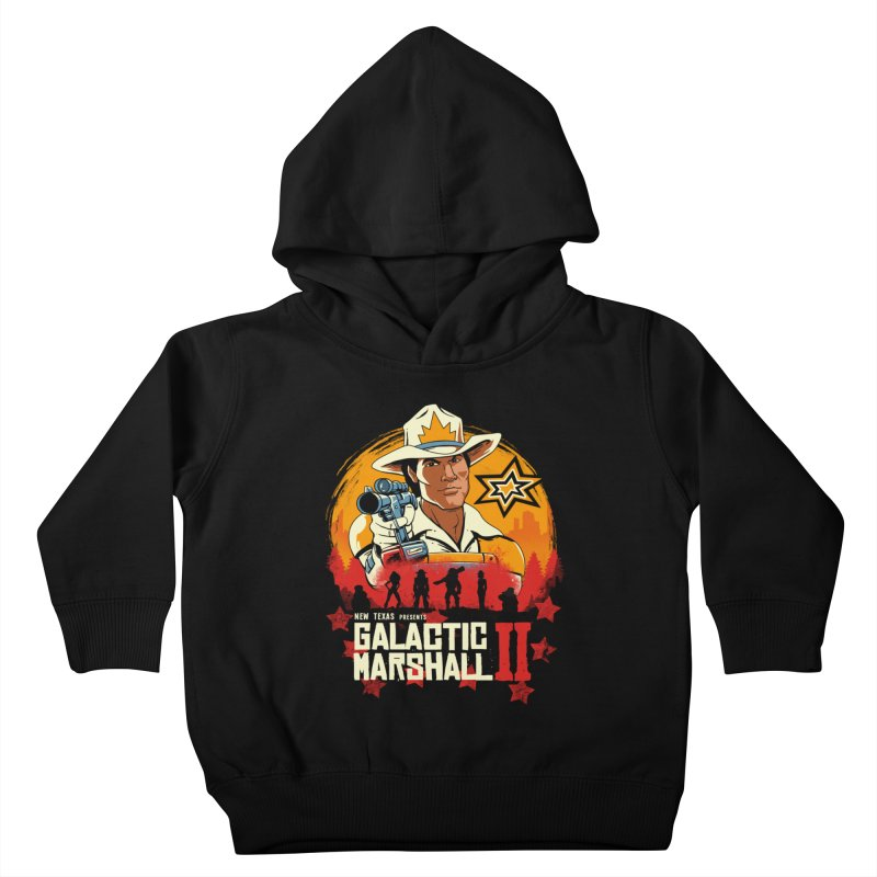 Red Galactic Marshall II Kids Toddler Pullover Hoody by vincenttrinidad's Artist Shop