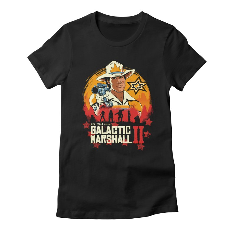 Red Galactic Marshall II Women's Fitted T-Shirt by vincenttrinidad's Artist Shop
