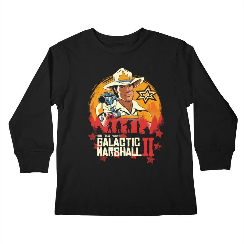 Red Galactic Marshall II Kids Longsleeve T-Shirt by vincenttrinidad's Artist Shop