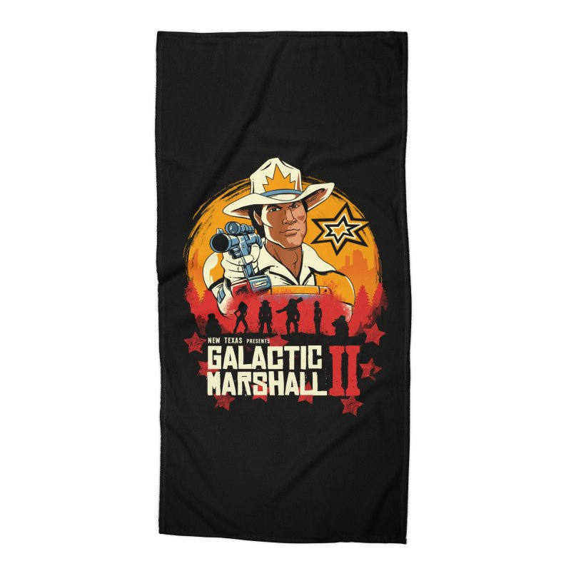 Red Galactic Marshall II Accessories Beach Towel by vincenttrinidad's Artist Shop