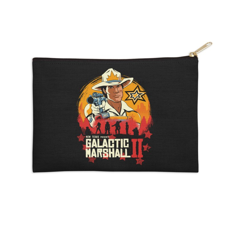 Red Galactic Marshall II Accessories Zip Pouch by vincenttrinidad's Artist Shop
