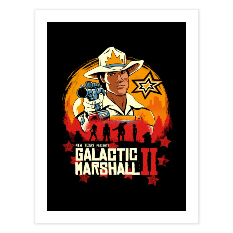 Red Galactic Marshall II Home Fine Art Print by vincenttrinidad's Artist Shop