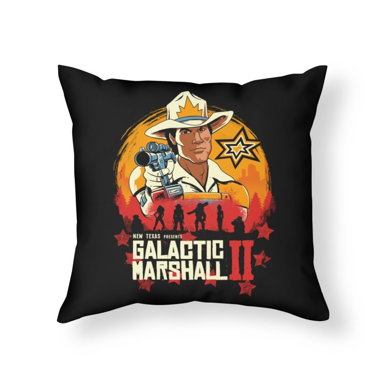 Red Galactic Marshall II Home Throw Pillow by vincenttrinidad's Artist Shop