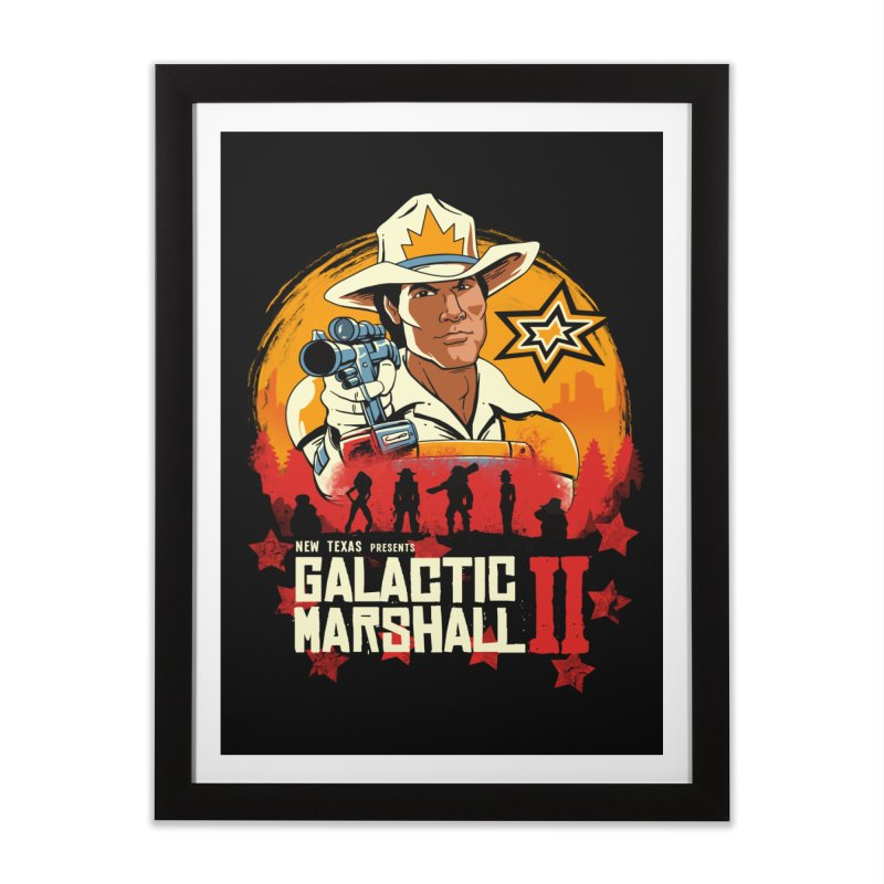 Red Galactic Marshall II Home Framed Fine Art Print by vincenttrinidad's Artist Shop