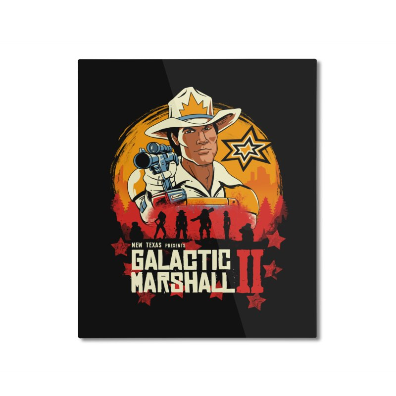 Red Galactic Marshall II Home Mounted Aluminum Print by vincenttrinidad's Artist Shop