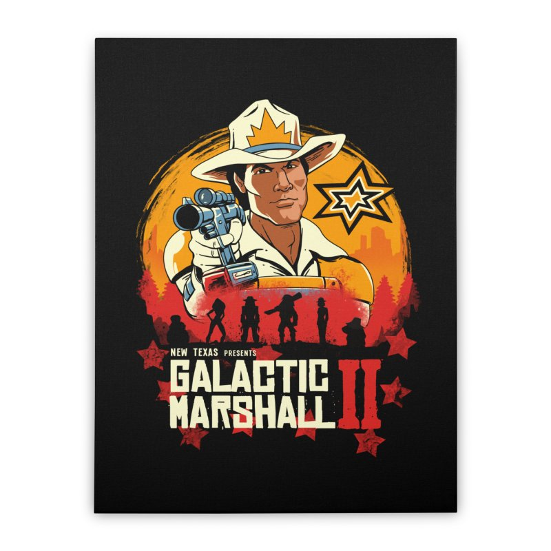 Red Galactic Marshall II Home Stretched Canvas by vincenttrinidad's Artist Shop