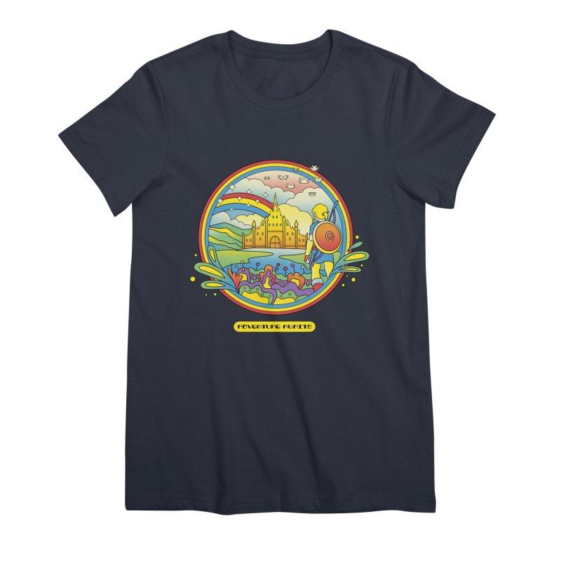 Trippy Adventurer Women's Premium T-Shirt by vincenttrinidad's Artist Shop