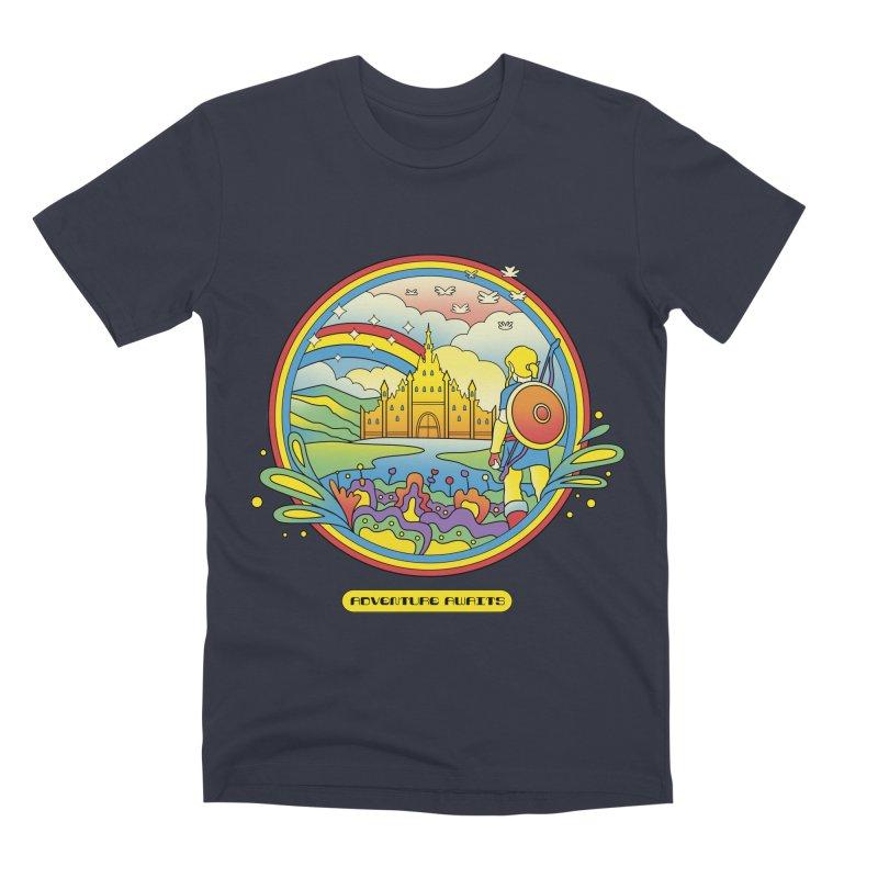 Trippy Adventurer Men's Premium T-Shirt by vincenttrinidad's Artist Shop