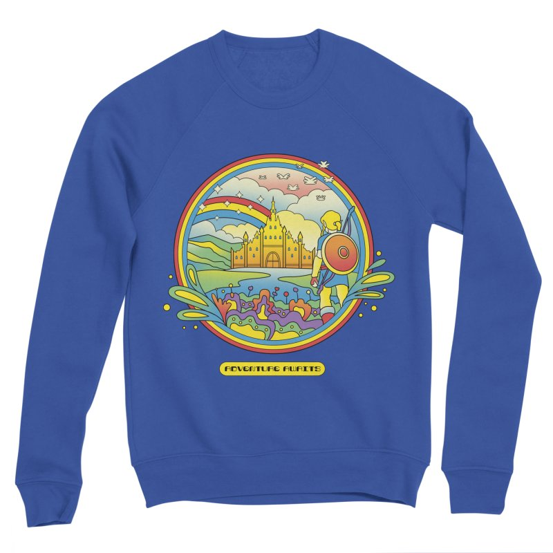 Trippy Adventurer Men's Sponge Fleece Sweatshirt by vincenttrinidad's Artist Shop