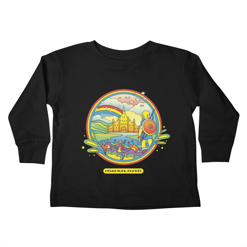 Trippy Adventurer Kids Toddler Longsleeve T-Shirt by vincenttrinidad's Artist Shop