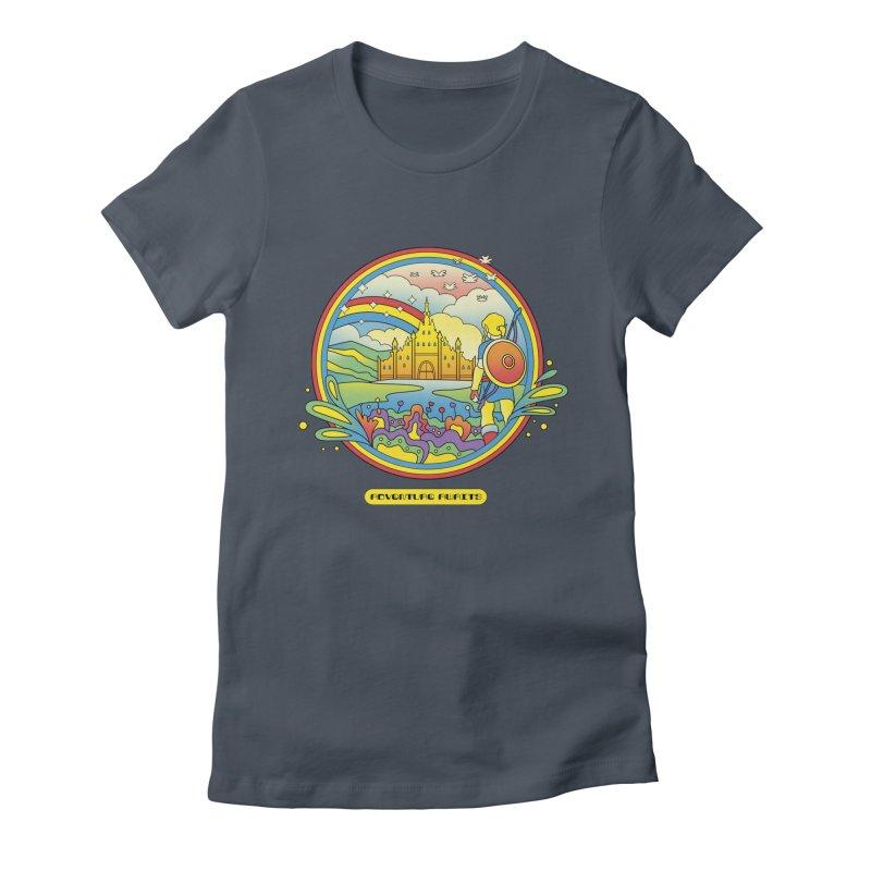 Trippy Adventurer Women's Fitted T-Shirt by vincenttrinidad's Artist Shop