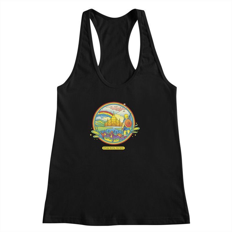 Trippy Adventurer Women's Racerback Tank by vincenttrinidad's Artist Shop