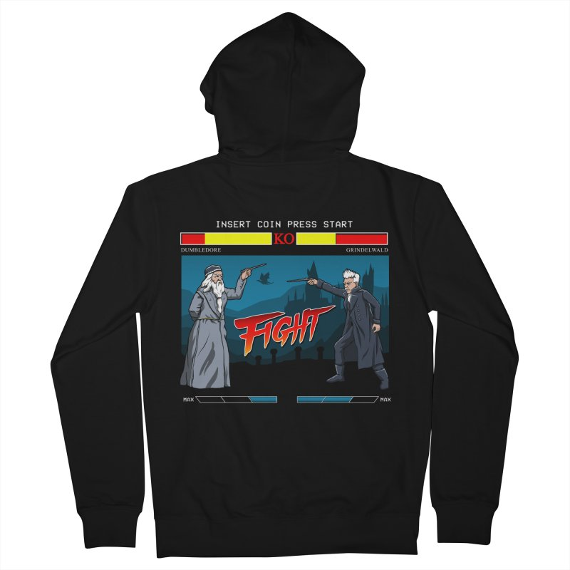 Arcade Wizard Fight Men's French Terry Zip-Up Hoody by vincenttrinidad's Artist Shop