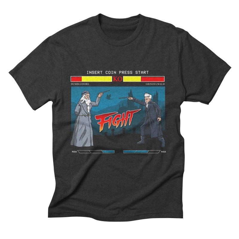 Arcade Wizard Fight Men's Triblend T-Shirt by vincenttrinidad's Artist Shop