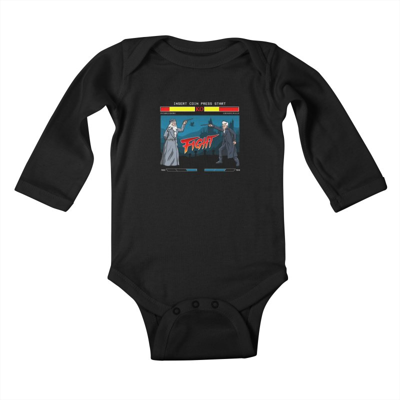 Arcade Wizard Fight Kids Baby Longsleeve Bodysuit by vincenttrinidad's Artist Shop