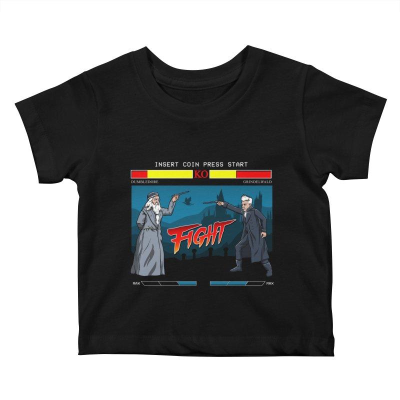 Arcade Wizard Fight Kids Baby T-Shirt by vincenttrinidad's Artist Shop