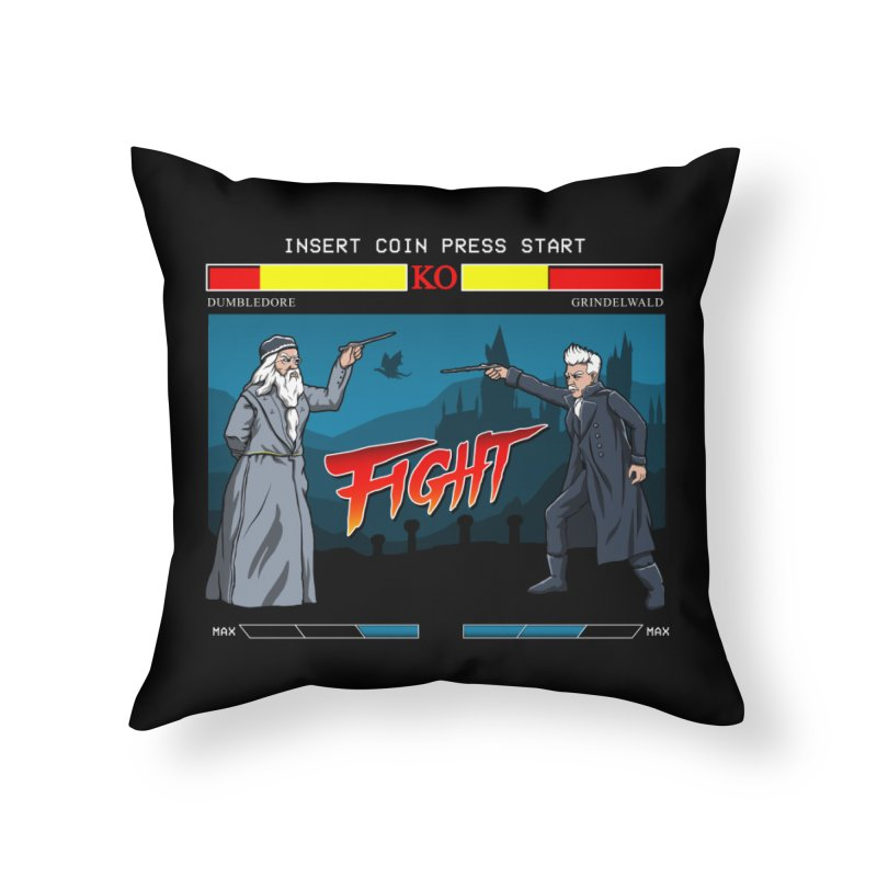 Arcade Wizard Fight Home Throw Pillow by vincenttrinidad's Artist Shop