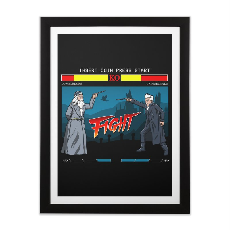 Arcade Wizard Fight Home Framed Fine Art Print by vincenttrinidad's Artist Shop