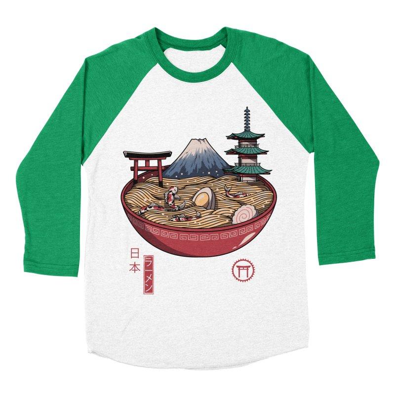 A Japanese Ramen Women's Baseball Triblend Longsleeve T-Shirt by vincenttrinidad's Artist Shop