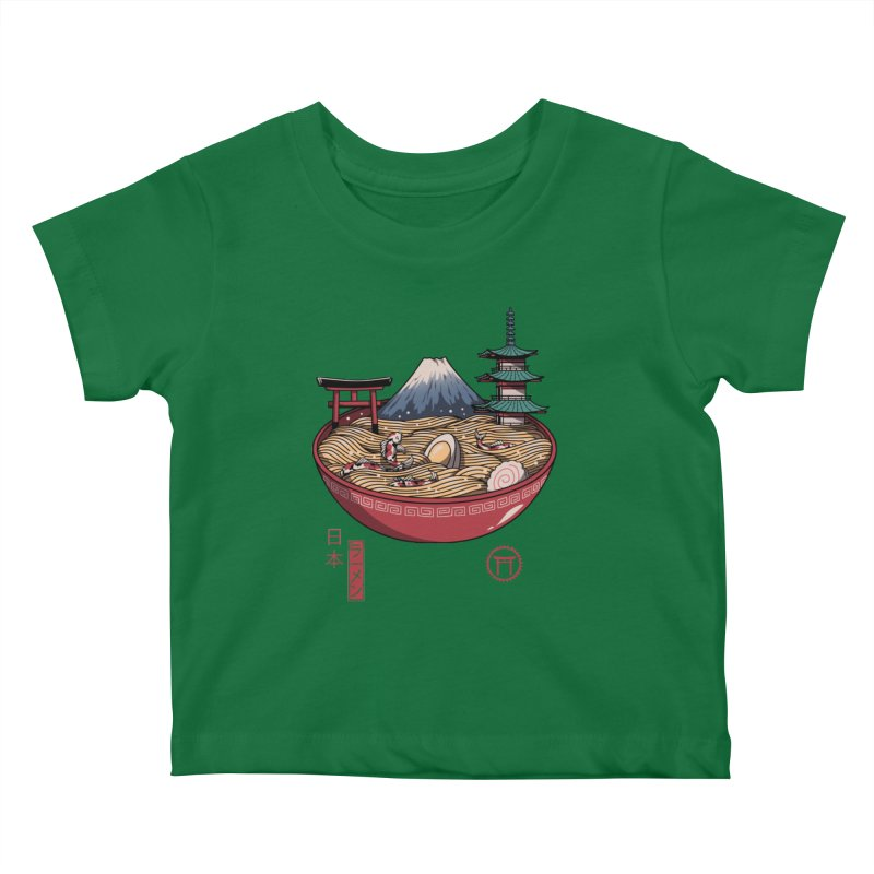 A Japanese Ramen Kids Baby T-Shirt by vincenttrinidad's Artist Shop