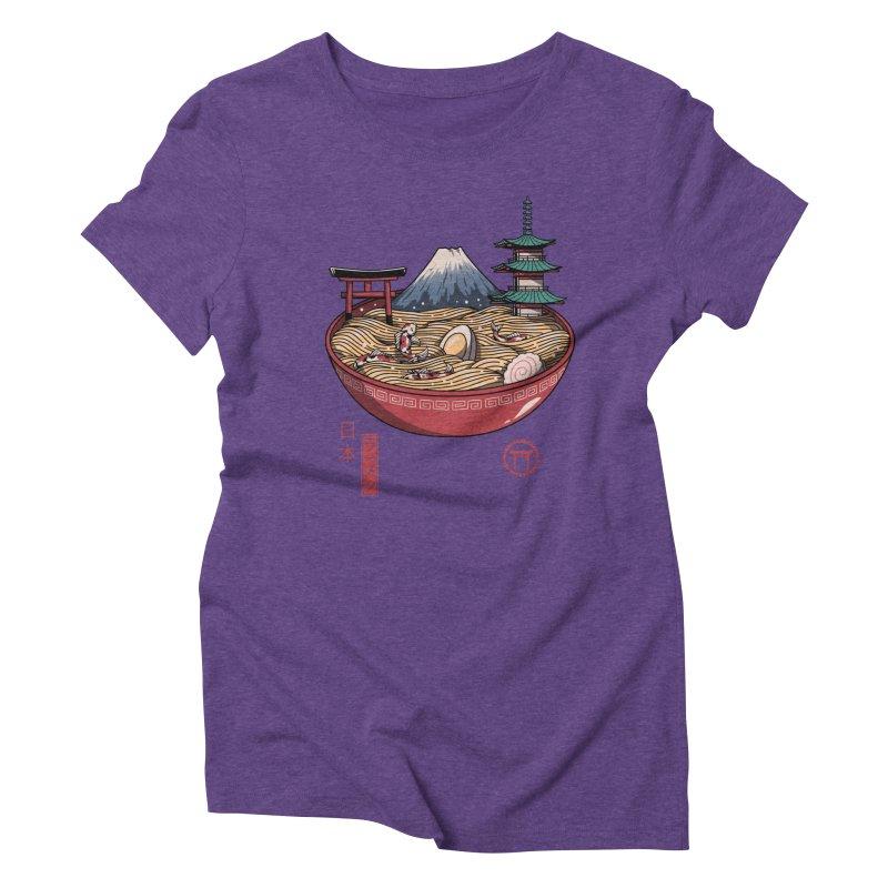 A Japanese Ramen Women's Triblend T-Shirt by vincenttrinidad's Artist Shop