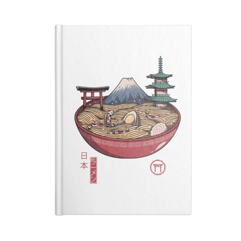 A Japanese Ramen Accessories Notebook by vincenttrinidad's Artist Shop