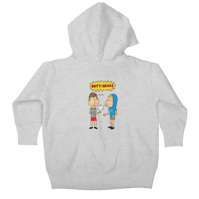 Buttheads Kids Baby Zip-Up Hoody by vincenttrinidad's Artist Shop