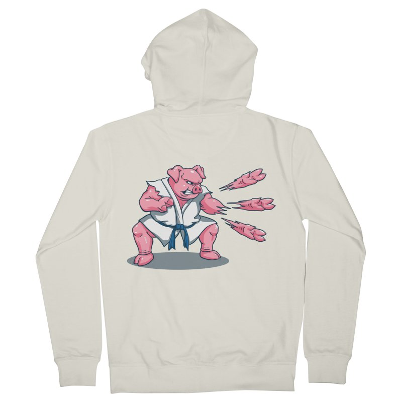 Pork Chops Men's French Terry Zip-Up Hoody by vincenttrinidad's Artist Shop