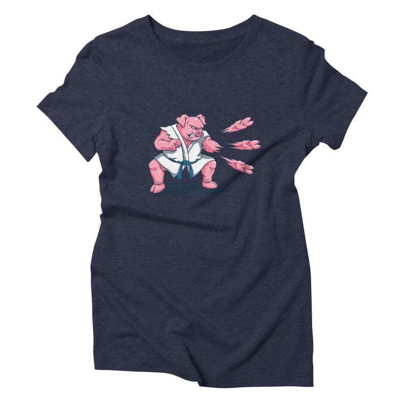 Pork Chops Women's Triblend T-Shirt by vincenttrinidad's Artist Shop